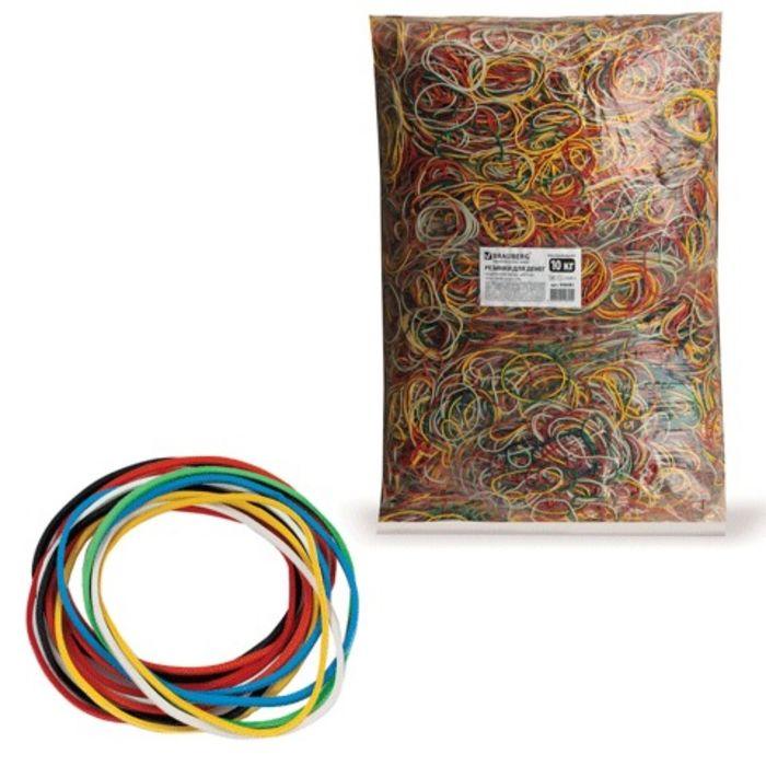 Банковская резинка, натуральный каучук, цветные, 10 кг, 18000 штук ± 5%