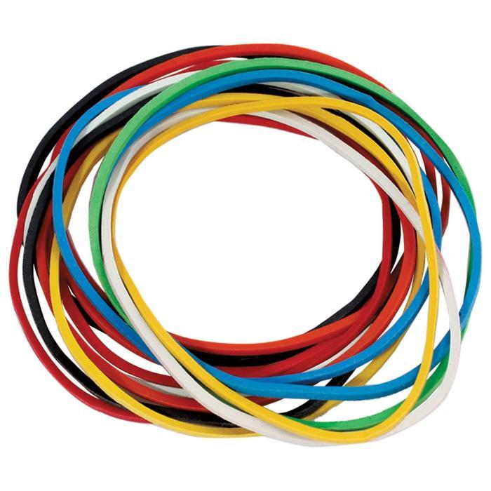 Банковская резинка натуральный каучук, цветные, 100 г, 180 шт. ± 5% - фото 369528637