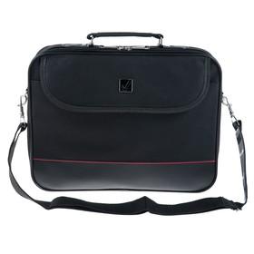 """Сумка деловая BRAUBERG Profi, отделение для планшета и ноутбука 13,3"""", 25 х 35 х 7 см, ткань, чёрная"""