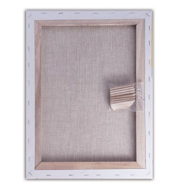 Холст на подрамнике лён 100%, акриловый грунт, среднезернистый, 2x30x40 см - фото 366934043