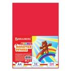 Цветная пористая резина (пенка в листах) для творчества А4, 10 листов, 10 цветов, радужная