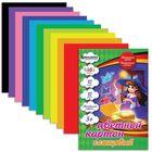 """Картон цветной А4, 12 листов, 12 цветов, Kids series """"Чародейка"""", мелованный, 200 х 290 мм"""