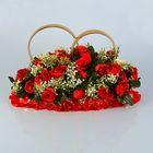 Кольца на крышу «Элит» с красными цветами