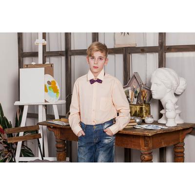 Сорочка для мальчика, рост 110-116 см (28), цвет персиковый 181