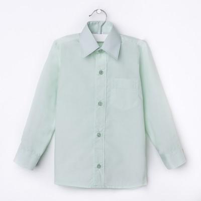 Сорочка для мальчика, рост 110-116 см (28), цвет салатовый 181