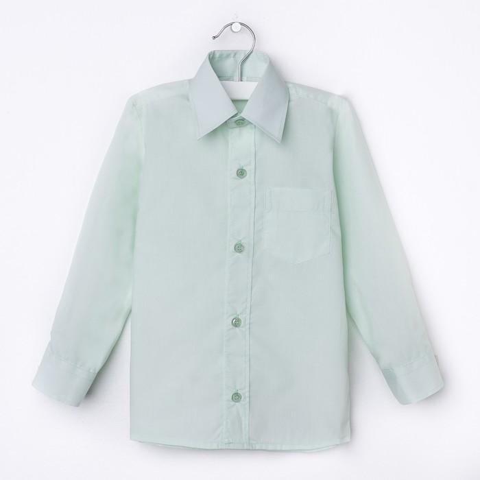 Сорочка для мальчика, рост 170-176 см (37), цвет салатовый 181В