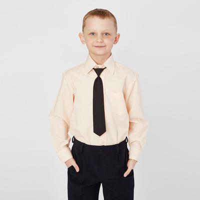 Сорочка для мальчика, нарядная с галстуком, рост 110-116 см (29), цвет персиковый 1181