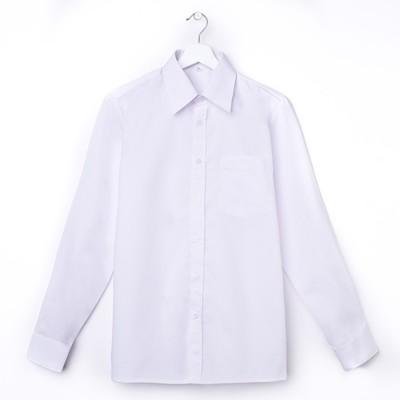 Сорочка для мальчика, рост 170-176 см (38), цвет белый   181В