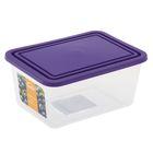 Емкость для продуктов прямоугольная 800 мл, цвет фиолетовый