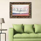 "Гобеленовая картина ""Белые кони"" рама микс"