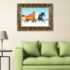 "Гобеленовая картина ""Три коня"" рама микс"