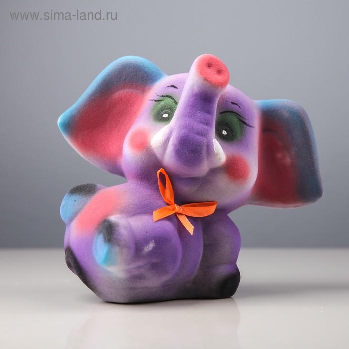 """Копилка """"Слоненок"""" малый, флок микс"""