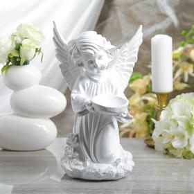 """Статуэтка """"Ангел с чашей"""" белый, 34 см"""