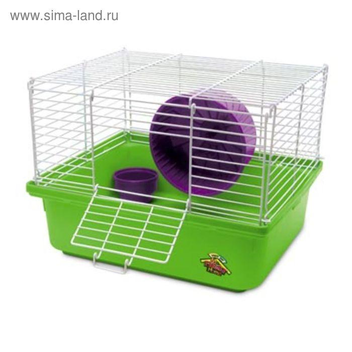 Клетка Super Pet MFHH для хомяка, 1 уровень с аксессуарами, 34.29х27.94х25.4 см