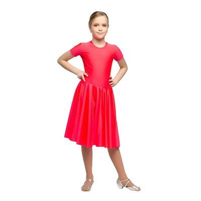Рейтинговое платье, с коротким рукавом, юбка-солнце, размер 32, цвет красный