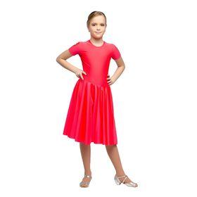 Рейтинговое платье, с коротким рукавом, юбка-солнце, размер 42, цвет красный