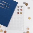 Лист для монет, Оптима. 200х250 мм, на 48 ячеек 30х30 мм