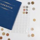 Лист для монет, Оптима, 200х250 мм, на 70 ячеек 24х24 мм