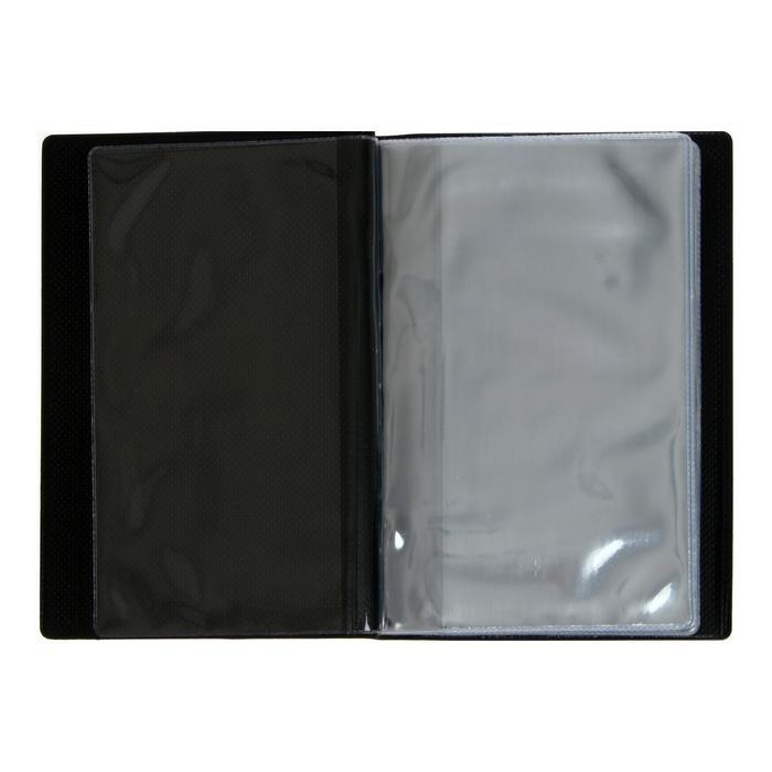Альбом для Бон 125х185мм, на 16 банкнот, обложка ПВХ, микс - фото 405923787