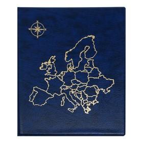 Альбом для монет, на кольцах, Оптима, 230 х 265 мм, входит до 20 листов, обложка искусственная кожа, «Карта», микс