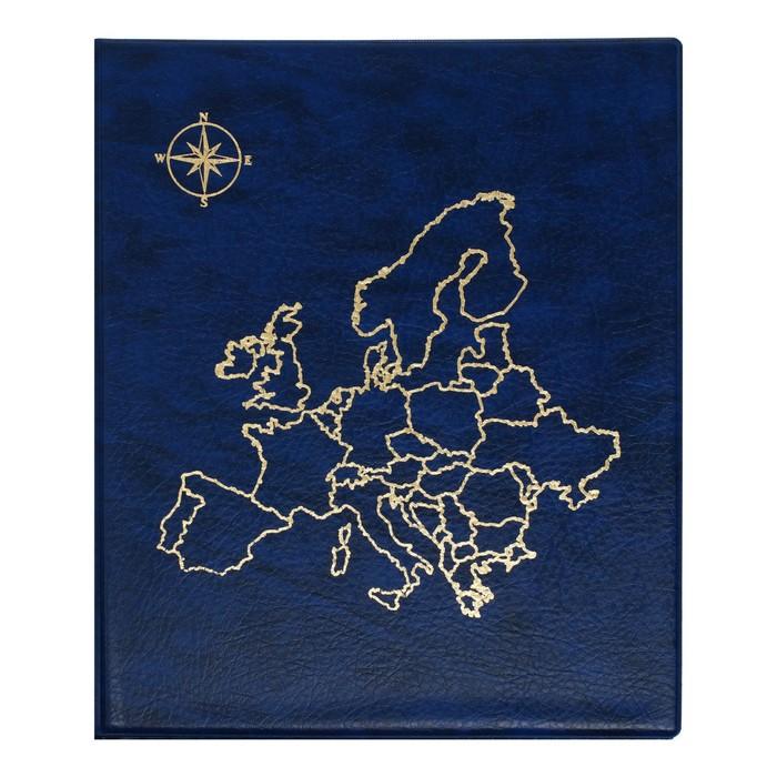 Альбом для монет, на кольцах, Оптима, 230х265 мм, входит до 20 листов, обложка искусственная кожа, «Карта», микс
