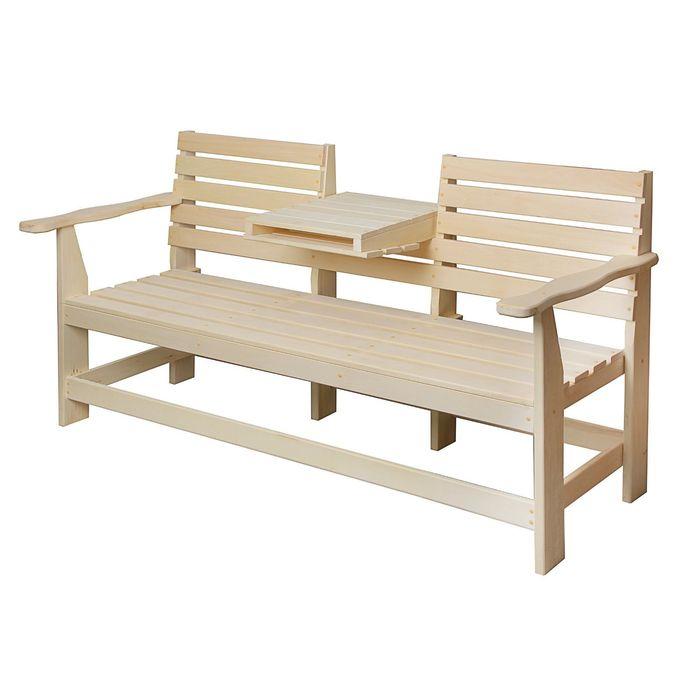 Скамейка с выдвижным столиком 160х60х90 см ПРОМО
