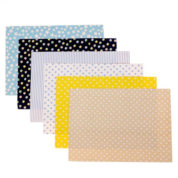Набор самоклеящихся тканей «Настроение детства», 21 × 29.5 см