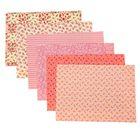Набор самоклеящихся тканей «Оттенки персикового», 21 × 29.5 см