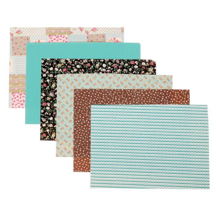 Набор самоклеящихся тканей «Краски лета», 21 × 29.5 см