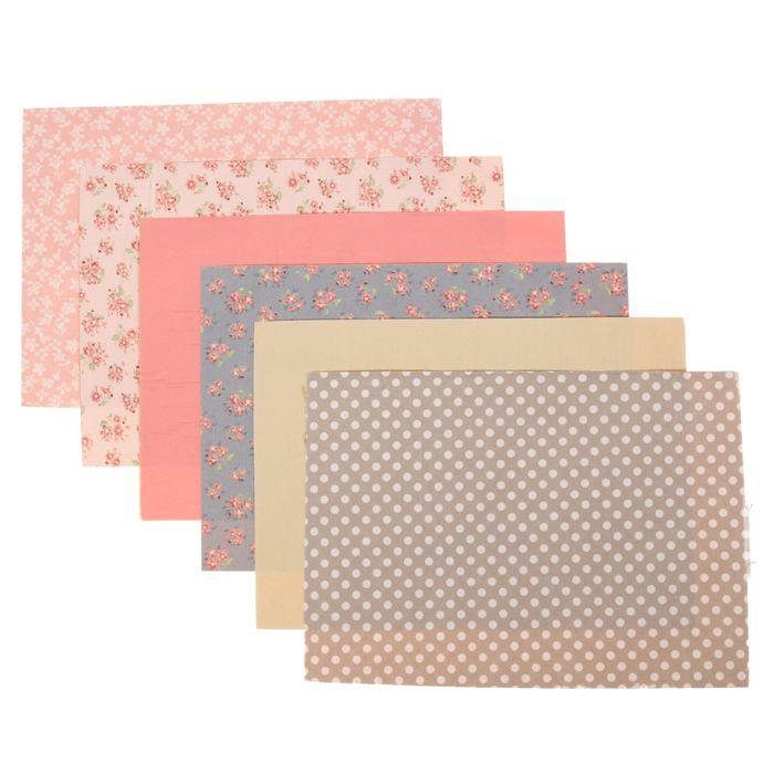Набор самоклеящихся тканей «Нежнее нежного», 21 × 29.5 см