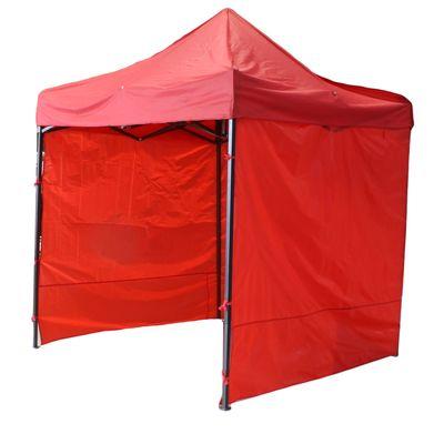 Палатка торговая 2,5*2,5 м, каркас складной чёрный, с молнией, цвет красный