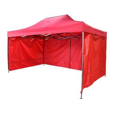 Палатка торговая 2*3 м, каркас складной чёрный, с молнией, цвет красный