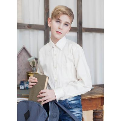 Сорочка для мальчика, рост 146-152 см (34), цвет ваниль   181Б