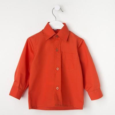 Сорочка для мальчика, рост 86 см (25), цвет кирпич 181_М