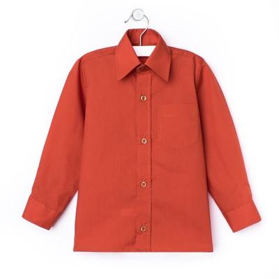 Сорочка для мальчика, рост 98-104 см (27), цвет кирпич  181