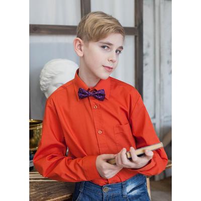 Сорочка для мальчика, рост 158-164 см (35), цвет кирпич 181Б