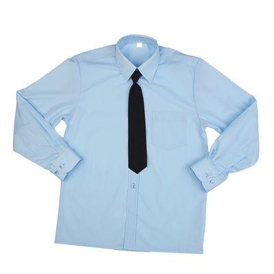 Сорочка для мальчика, нарядная с галстуком, рост 86 см (25), цвет светло-голубой  1181