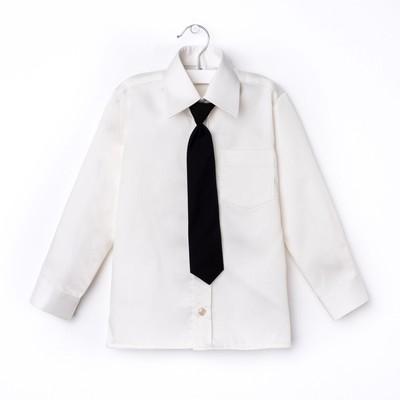 Сорочка для мальчика, нарядная с галстуком, рост 110-116 см (29), цвет ваниль 1181