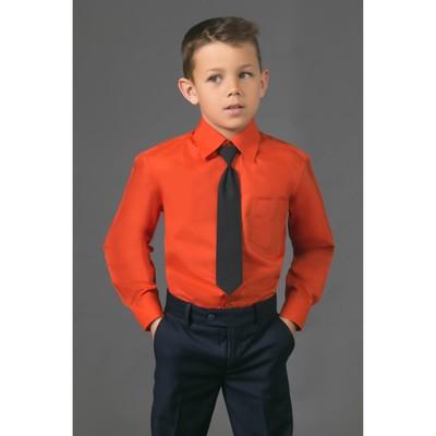 Сорочка для мальчика, нарядная с галстуком, рост 110-116 см (28), цвет кирпич 1181