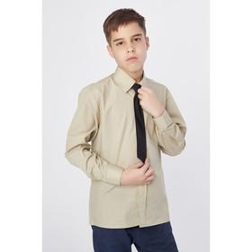 Сорочка для мальчика, нарядная с галстуком, рост 98-104 см (26), цвет оливковый 1181
