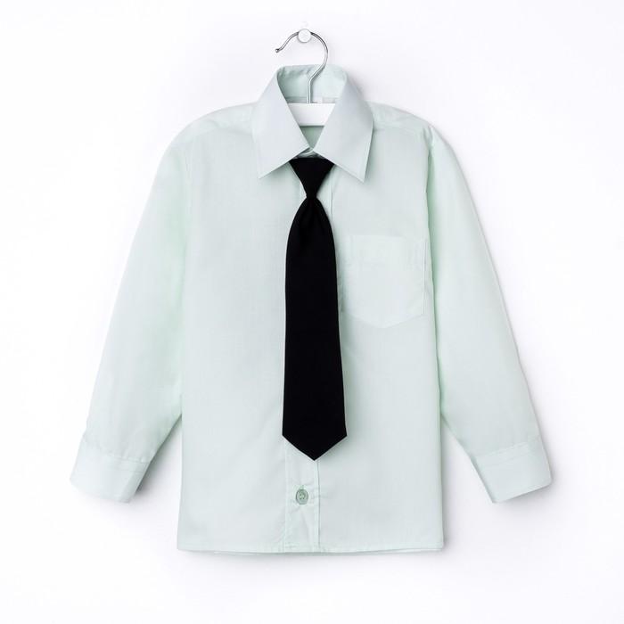 Сорочка для мальчика, нарядная с галстуком, рост 98-104 см (27), цвет салатовый 1181