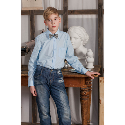 Сорочка для мальчика, рост 98-104 см (27), цвет светло-голубой  181