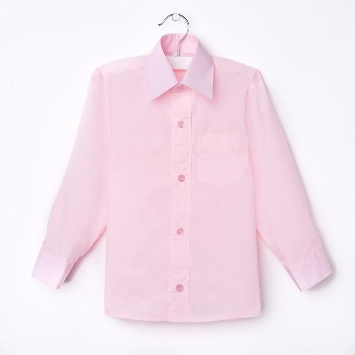 Сорочка для мальчика, рост 158-164 см (35), цвет светло-розовый  181Б - фото 105470084