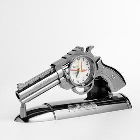 """Часы будильник """"Пистолет"""" на подставке, 13х25 см"""