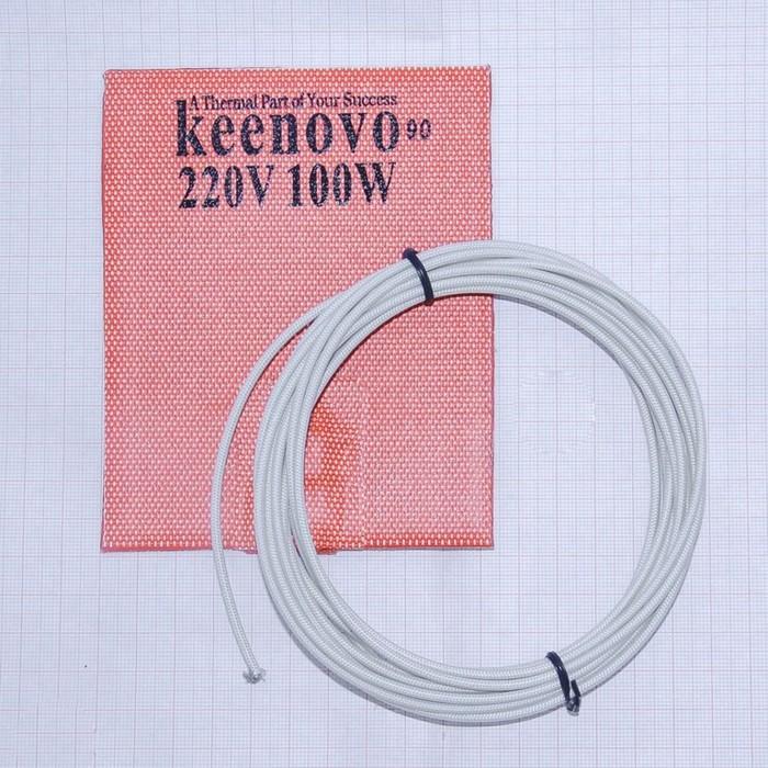 Гибкая нагревающая пластина 100 Вт 220 В (101х127) (темп.90) Keenovo