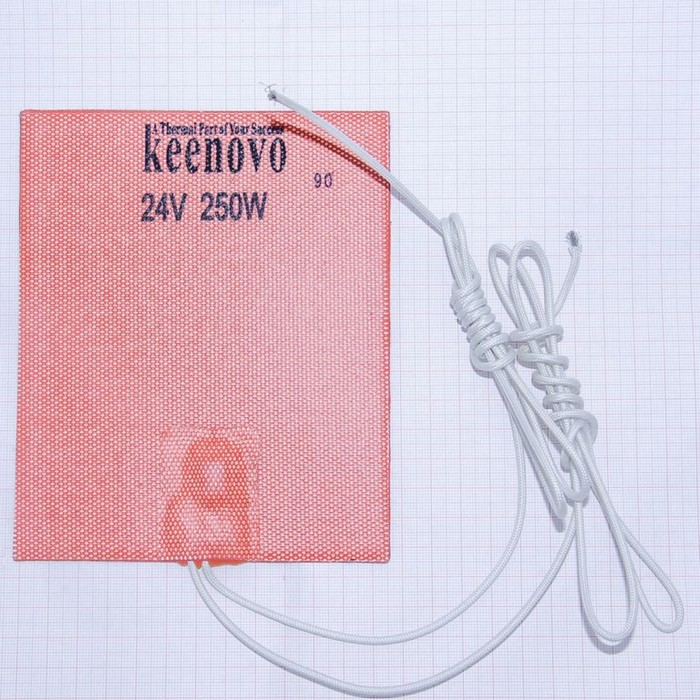 Гибкая нагревающая пластина 250 Вт 24 В (127х152) (темп.90) Keenovo