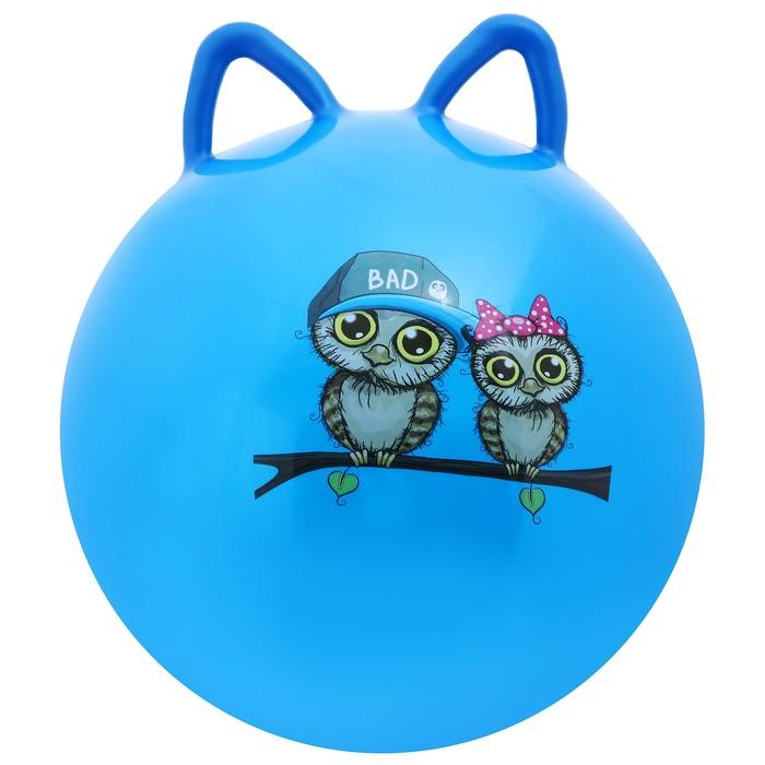Мяч попрыгун с ушками d=45 см, 380 гр, цвета, рисунок микс