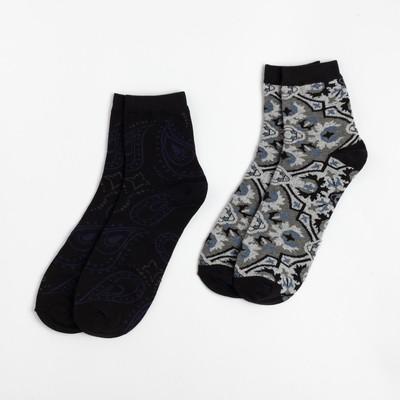 "Set of men's socks (2 pairs) ""Paisley"" R-R 27-29 , 80% CL.,15% p/a, 5% El."
