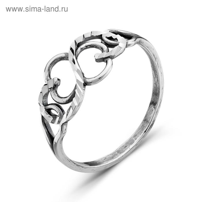 """Кольцо посеребрение с оксидированием """"Витое"""", 19 размер"""