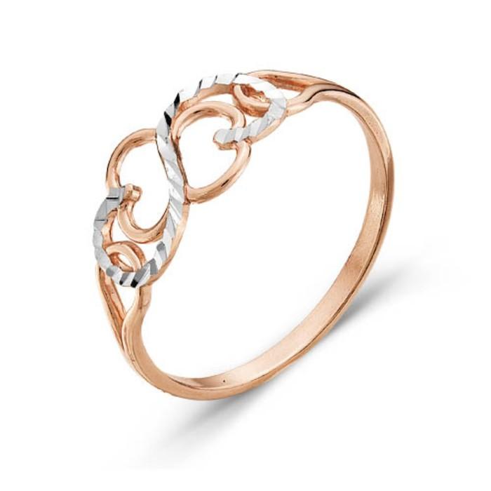 "Кольцо позолота ""Витое"", 19 размер"